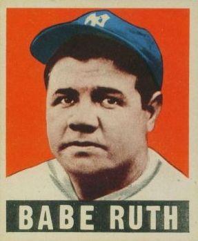 56020973c47 Babe Ruth Baseball Cards