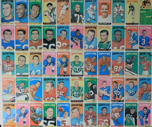 1965 Topps Partial Uncut Sheet with Joe Namath