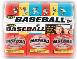 1966 Topps Baseball Wax Box and Wax Packs