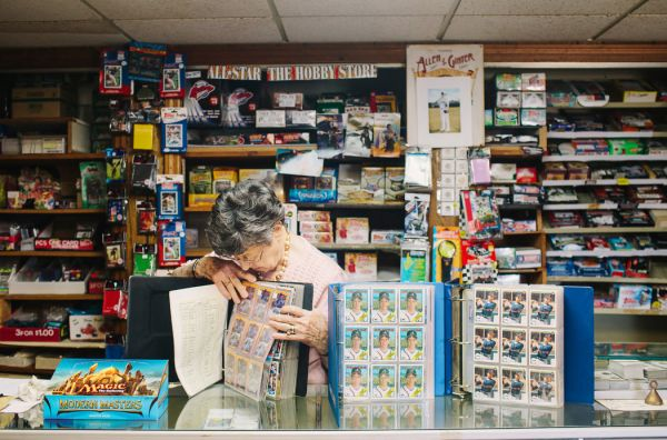 What happened to my local baseball card shop just collect a small baseball card shop owner showing off some of her items photo ny times sciox Gallery