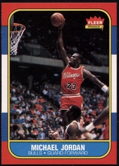 1986 Fleer #57 Michael Jordan Rookie Card