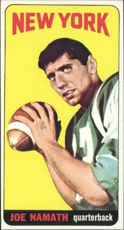 1965 Topps Joe Namath Butterfly Variation Rookie
