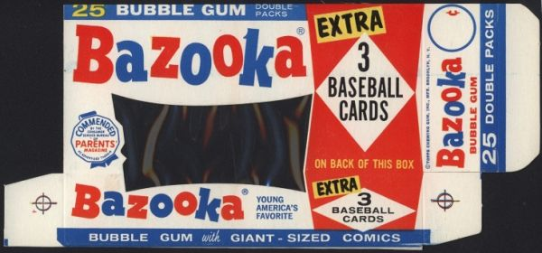 1963 Bazooka Box Front with Cellophane Panel