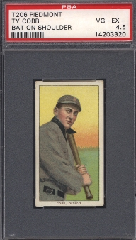 1909-11 T206 Ty Cobb Bat On Shoulder PSA 4.5