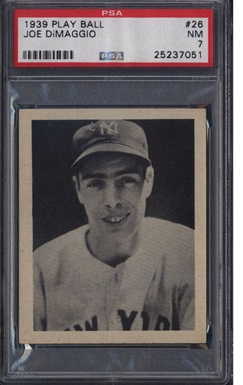 1939 Play Ball #26 Joe DiMaggio PSA 7