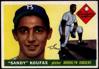 1955 Topps #123 Sandy Koufax Rookie Card